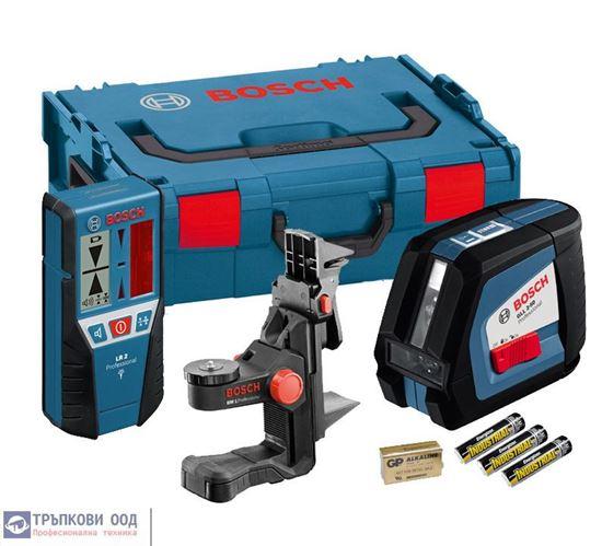 Снимка на Линеен лазер GLL 2-50 Professional+Лазерен приемник LR 2+Универсален държач BM 1+Лазерна мишена в L-BOXX