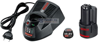 Снимка на  Акумулаторен комплект Bosch Стартов комплект GBA 12 V 2,0 Ah O-B + AL 1130 CV Professional
