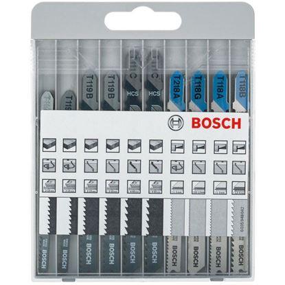 Снимка на Комплект 10 части ножчета за прободен трион, Basic for Metal and Wood;T118 A/B/G, T218 A, T111 C, T119 B/BO;2607010630