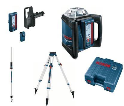 Снимка на Ротационен лазер BOSCH GRL 500 HV + LR 50 дистанционно+приемник,BT 170 HD статив,GR240 лата