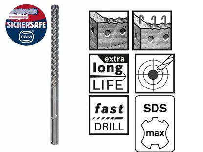 Снимка на Свредло Bosch с цяла карбидна глава за армиран бетон SDS-max-8X 14 x 600 x 740 mm;2608578608