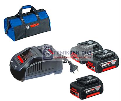 Снимка на Супер сет 18V - 3 батерии х 5,0Ah + GAL 1880CV+ Професионална чанта