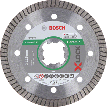 Снимка на Диамантен диск X-LOCK, Best for Ceramic Extraclean Turbo, 115x22,23x1,4x7;2608615131