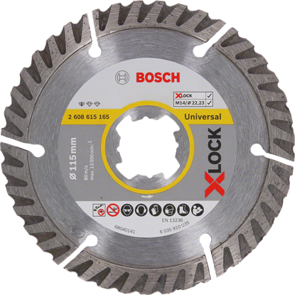 Снимка на X-LOCK Диамантен диск Standard for Universal 115 x 22,23 x 1,6 x 10 mm;2608615165