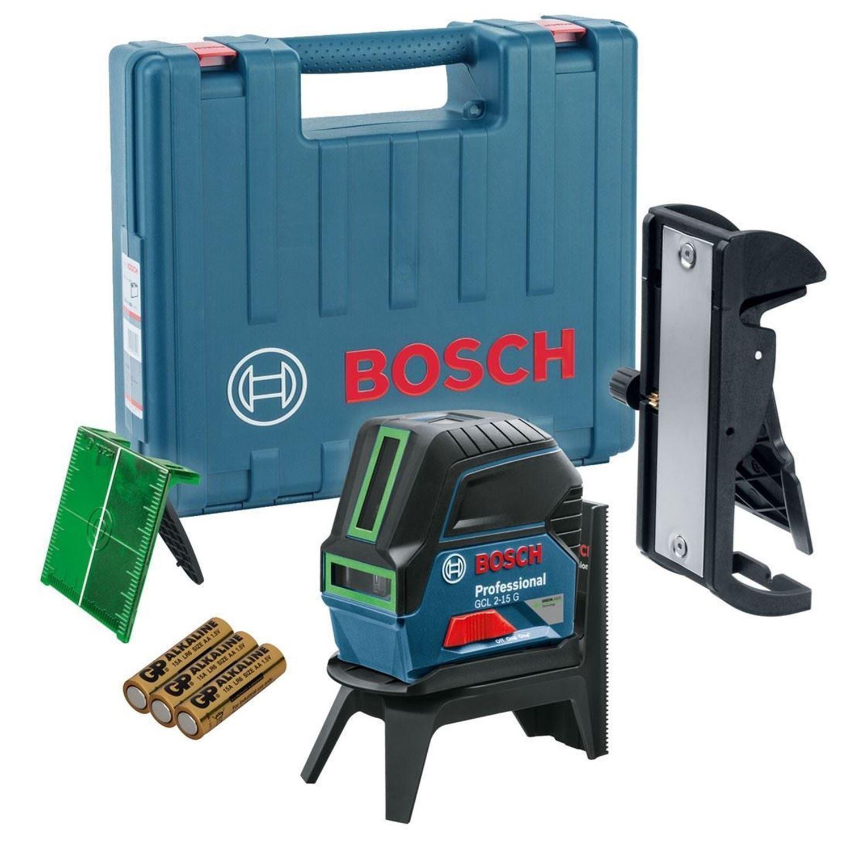 Снимка на Линеен лазер Bosch GCL 2-15 G Professional+RM1,мишена,куфар + Подарък Лични предпазни средства