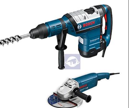 Снимка на  Перфоратор със SDS-max Bosch GBH 8-45 D Professional+ Ъглошлайф GWS 22-230 JH Professional