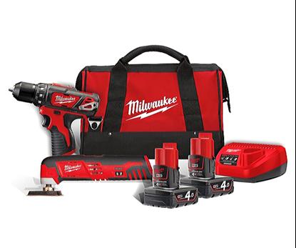 Снимка на Акумулаторни инструменти Milwaukee M12 BPP2D-402B Powerpack 12V,4.0Ah Li-Ion M12™;4933441250