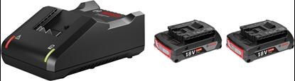 Снимка на Стартов комплект 2 x GBA 18V 2.0Ah + GAL 18V-40 Professional;0615990L0X