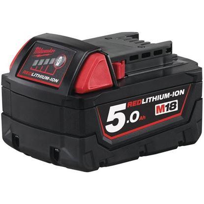 Снимка на Акумулаторна литиево-йонна батерия Milwaukee M18B5/ 18 V, 5 Ah,4932430483