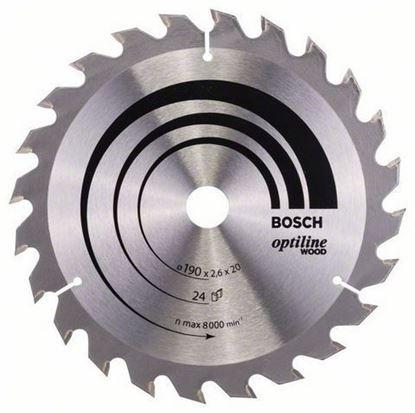 Снимка на Циркулярен диск Optiline for Wood;190 x 20/16 x 2,6 mm, 24;2608640612