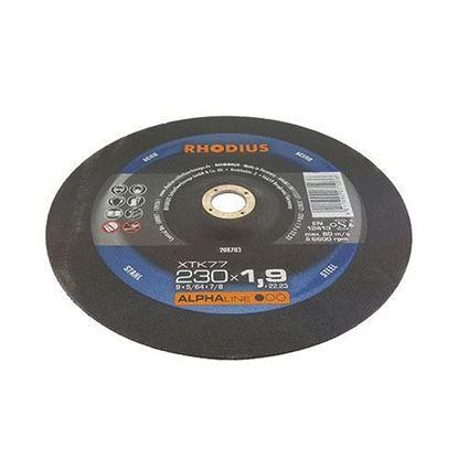 Снимка на XTK77 Карбофлексов диск Rhodius за рязане на метал ф 230 х 1.9 х 22.23;208703