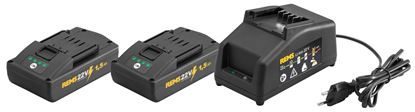 Снимка на REMS Power-Pack  комплект 2 батерии х 22V;1,5Ah+устройство за бързо зареждане 230V,90W 571589