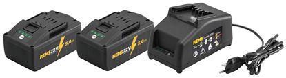 Снимка на REMS Power-Pack  комплект 2 батерии х 22V;5Ah+устройство за бързо зареждане 230V,90W 571591