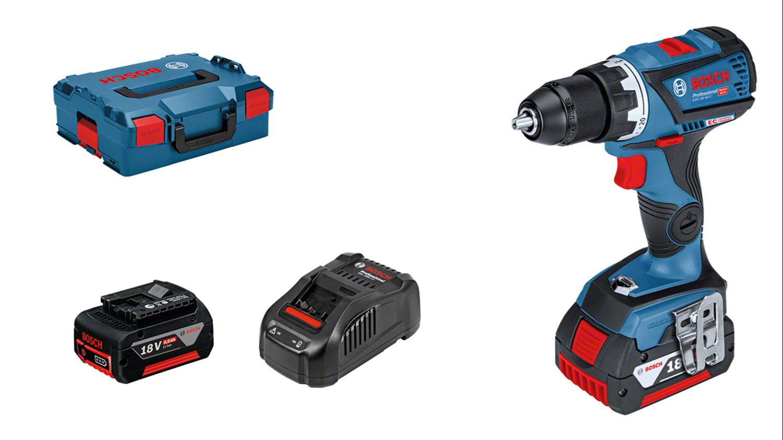Снимка на Акумулаторен винтоверт GSR 18V-60 C Professional,2х5.0Ah,L-Boxx 136 + GAS 18V-1