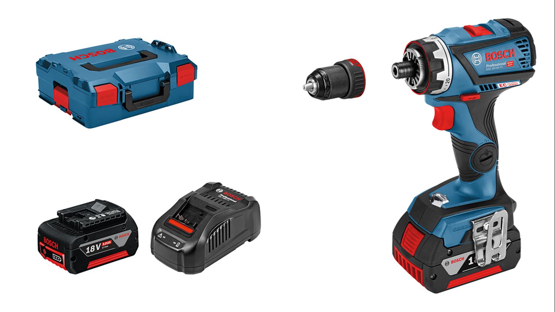 Снимка на НОВО!Акумулаторен винтоверт GSR 18V-60 FC+2x5Ah+ GFA18M + LBoxx+ GAS 18V-1
