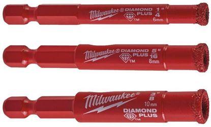 Снимка на Промо сет свредла Milwaukee Diamond Plus ™ ¼,3 броя,6/8/10 mm,4932471771