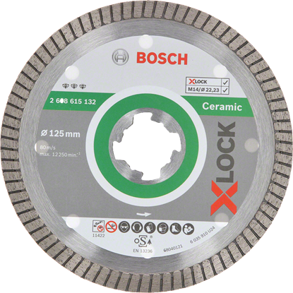 Снимка на X-LOCK Диамантен диск Best for Ceramic Extraclean Turbo 125 x 22,23 x 1,4 x 7 mm;2608615132